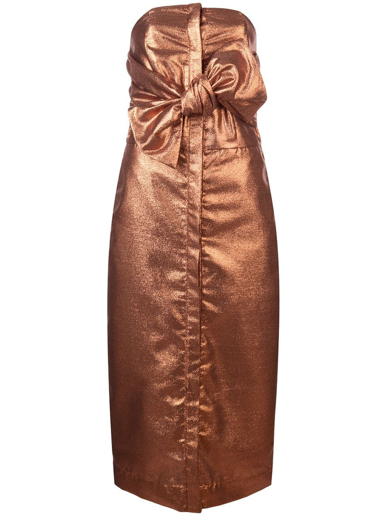 Kamperett Vuelo Dress Copper Jacquard