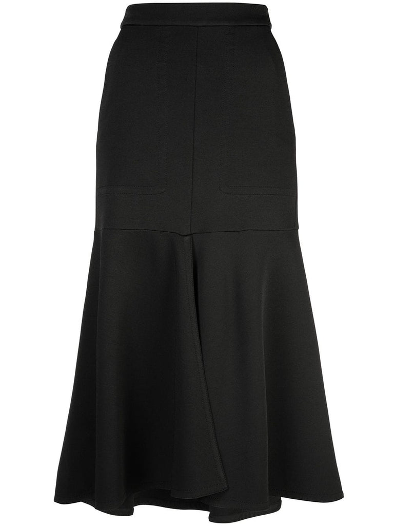TIBI  Frisse Front Slit W/ Long Skirt - Black