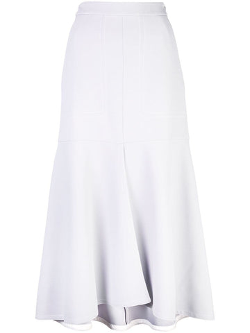 TIBI  Frisse Front Slit W/ Long Skirt - Storm Grey