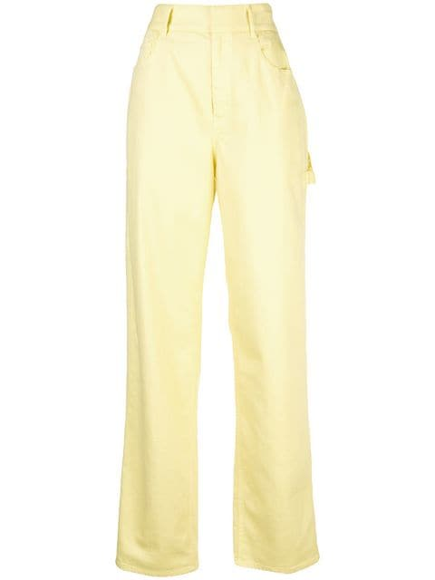 TIBI Garment Dyed Spring Weight Carpenter Denim Citrus