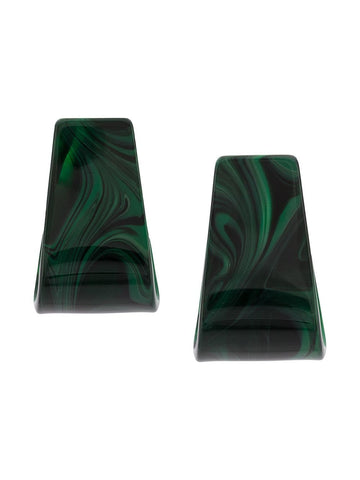 Rachel Comey SLALOM Malachite Earrings
