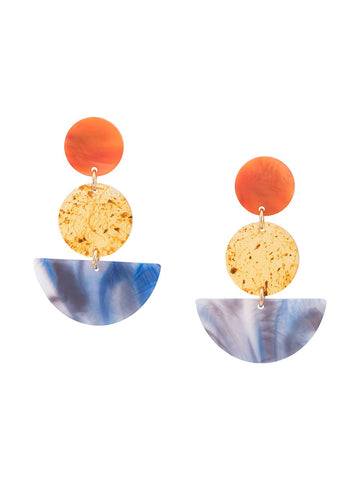 Rachel Comey NEALE Orange Marble Earrings