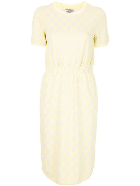 BAUM UND PFERDGARTEN June Cinch Waist Dress - Lemon