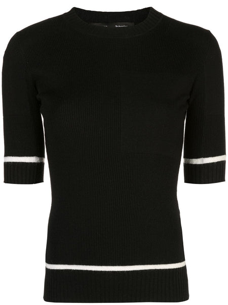 PROENZA SCHOULER S/S Layering Crew-Ribbed Layering Knits - Black