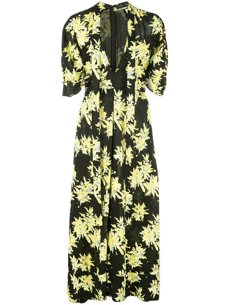 PROENZA SCHOULER S/S Tie Dress-Printed Viscose Georgette