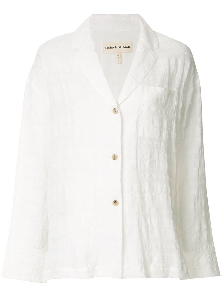 MARA HOFFMAN Eleanor Oversized Button Down Top