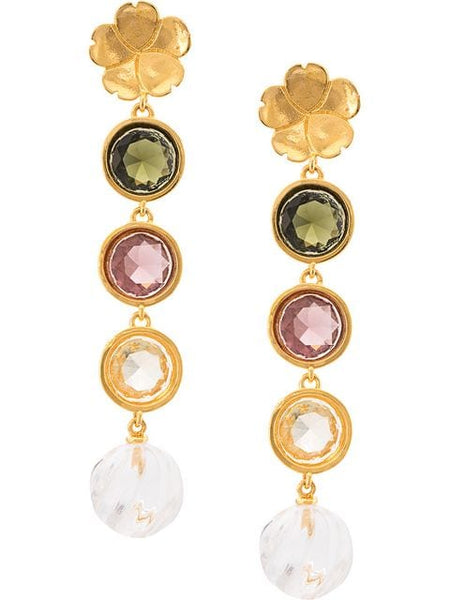 LIZZIE FORTUNATO Nonna Pastel Flower Earrings