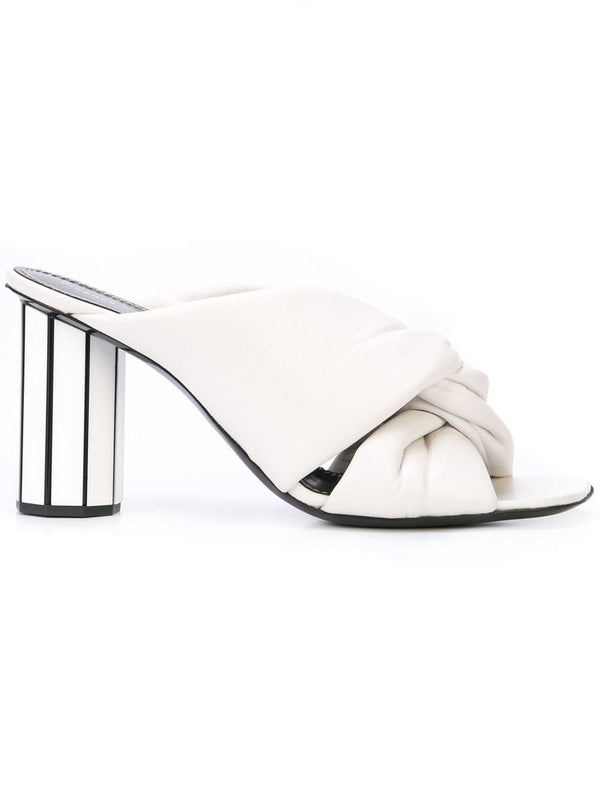 PROENZA SCHOULER White Open Toe Leather Mule