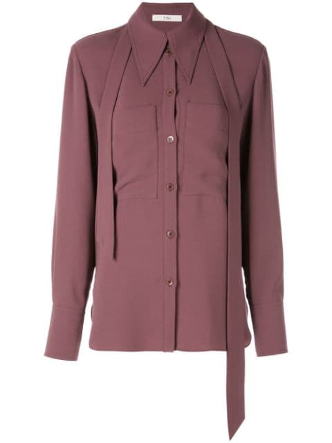 TIBI Blouse with Removable Tie