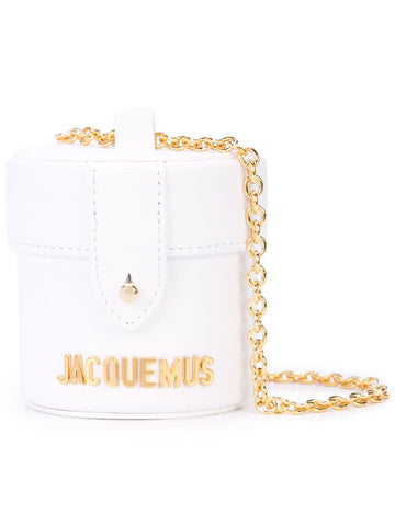 Jacquemus LE VANITY WHITE LEATHER