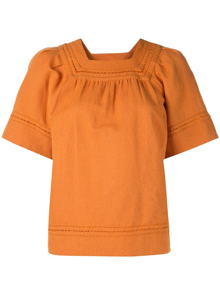 SEA Izzy Puff Sleeve Top - Monarch