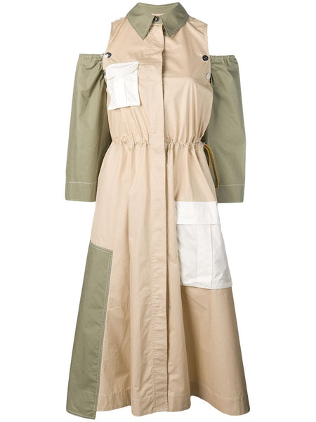 GANNI Hazel Cotton Utility Dress