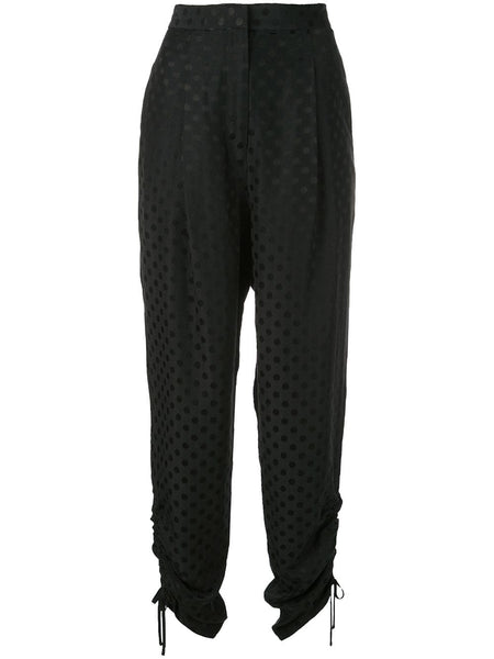 TIBI Dot Jacquard Pleated Sculpted Pant