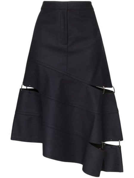 TIBI Concept Cut Out Wool Trouser Skirt - Navy