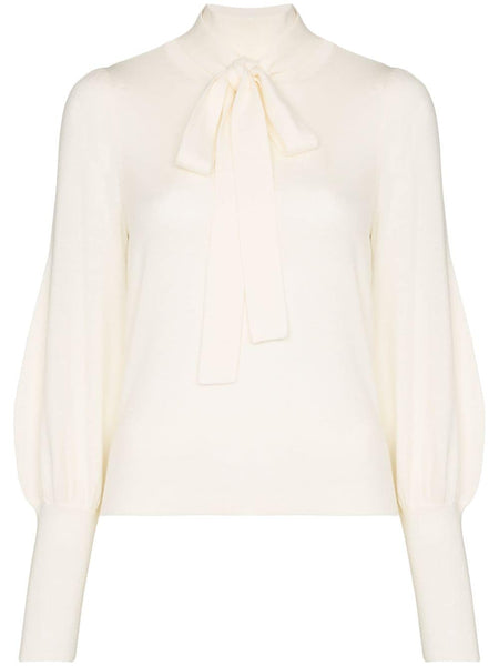 ZIMMERMANN Espionage Neck Tie Sweater