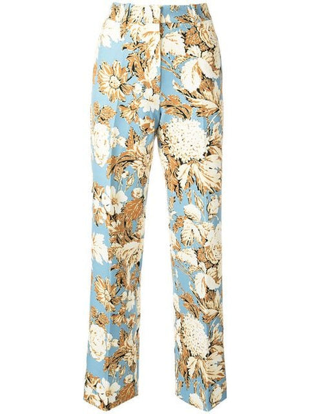 STINE GOYA Marcel 529 Tailored Floral Print Pant