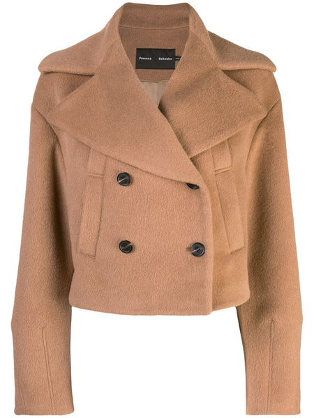 PROENZA SCHOULER Short Peacoat-Alpaca Coating