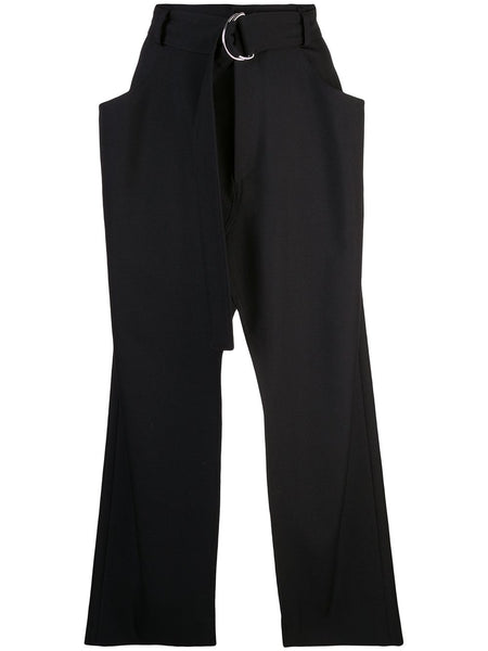 PROENZA SCHOULER Split Skirt-Wool Twill Suiting