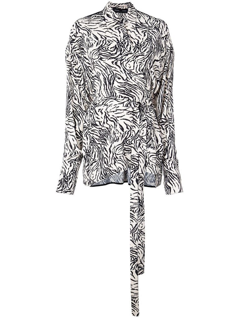 PROENZA SCHOULER Long Sleeve Wrapped Top