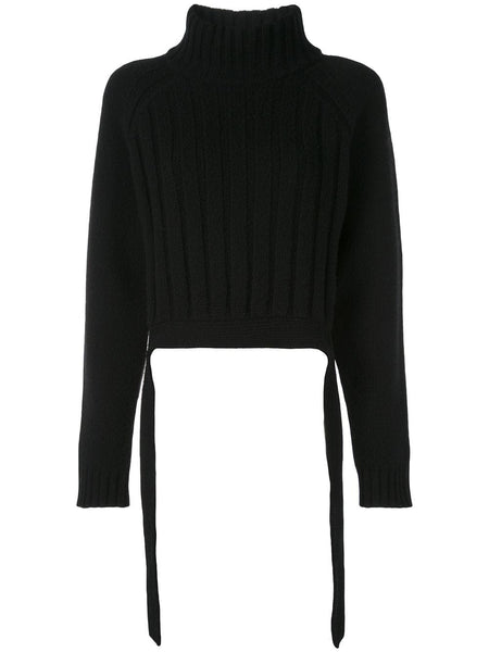 PROENZA SCHOULER Cropped Turtle Neck Knit-Cashmere Blend Sweater