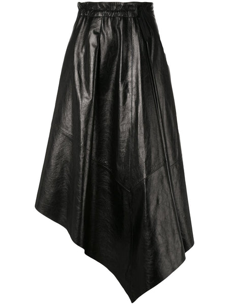 PROENZA SCHOULER Asymmetrical Mid Length Skirt - Shiny Leather