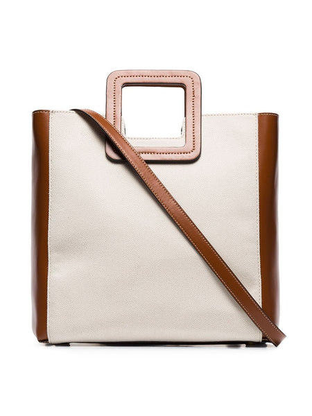 STAUD Shirley Bag - Natural/Brown