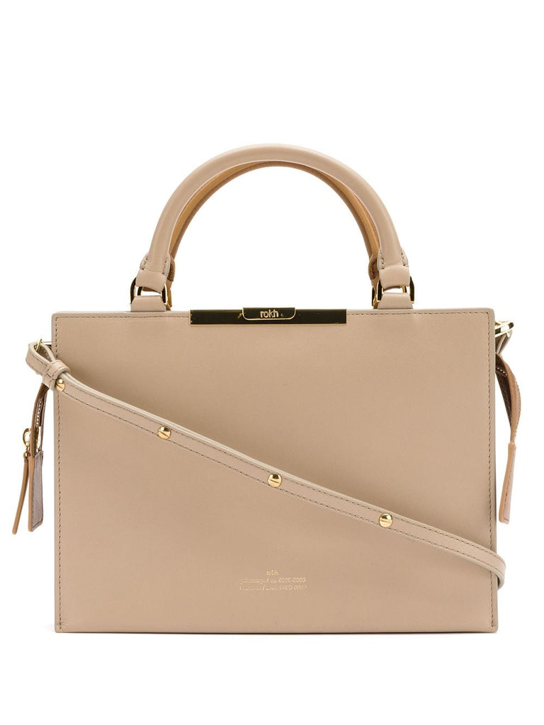 ROKH Top Handle Bag - Beige