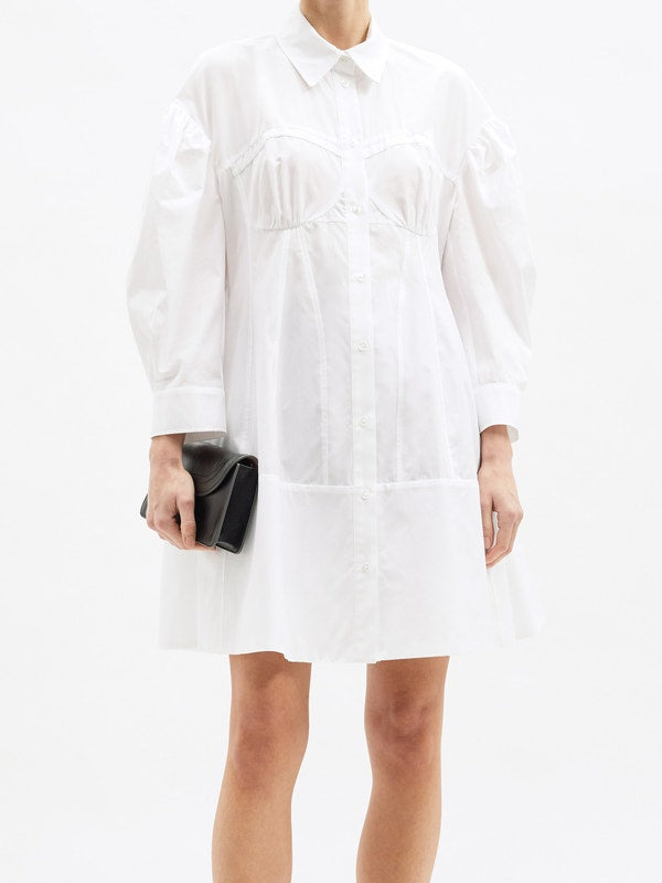 SIMONE ROCHA Corset Detailed Shirt Dress