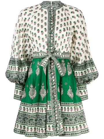 ZIMMERMANN Amari Emerald Buttoned Dress