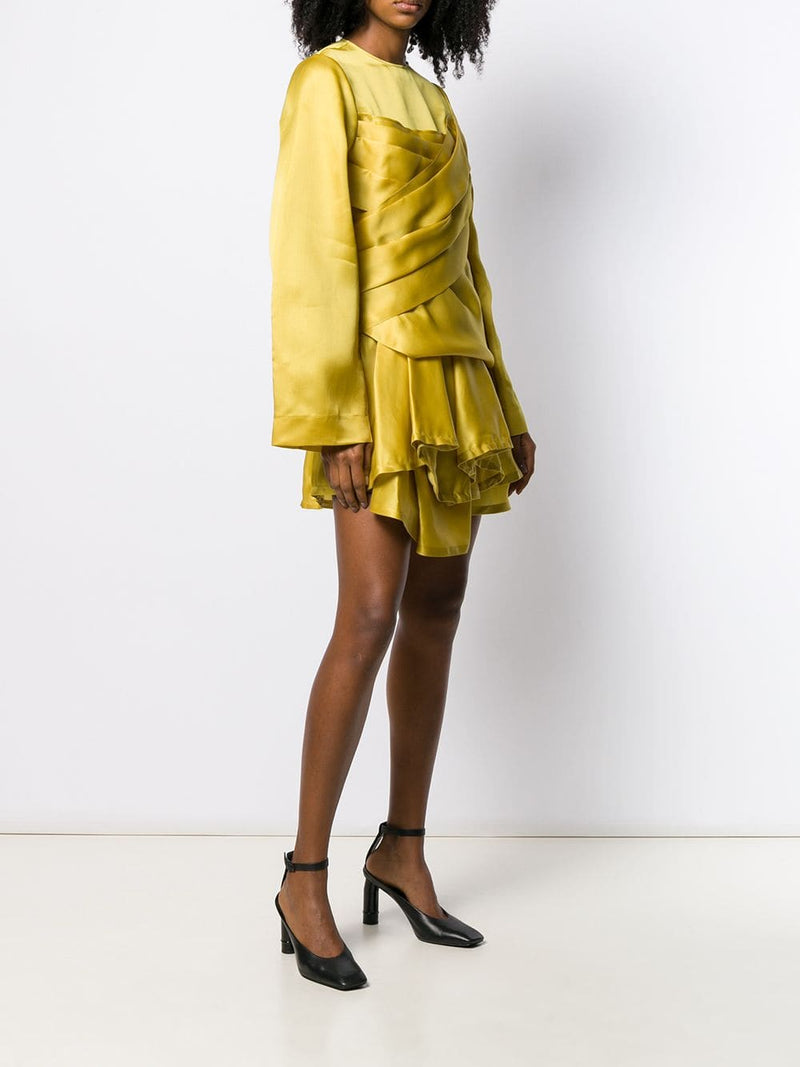 NINA RICCI Silk Satin Organza Dress