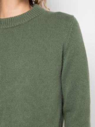 TIBI Cashmere Mini Pullover - Army Green