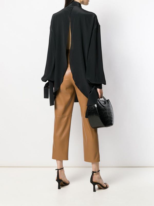 ROKH Draped Cuff Blouse