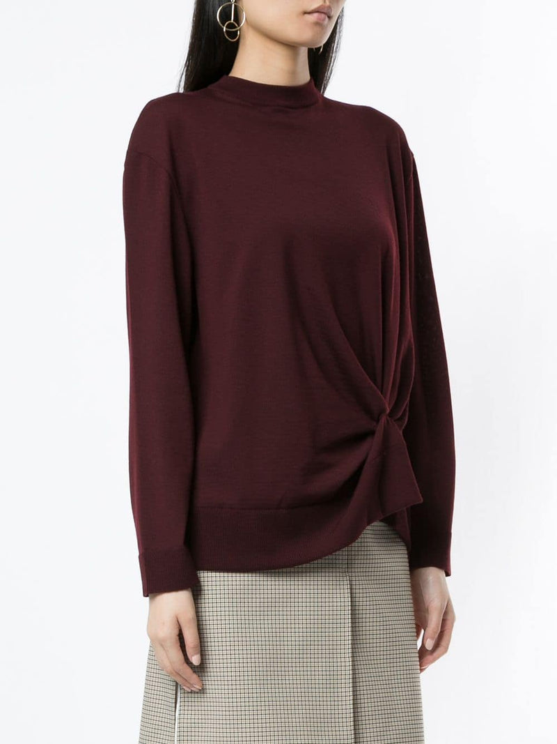 NINA RICCI L/S Knotted Knit Sweater