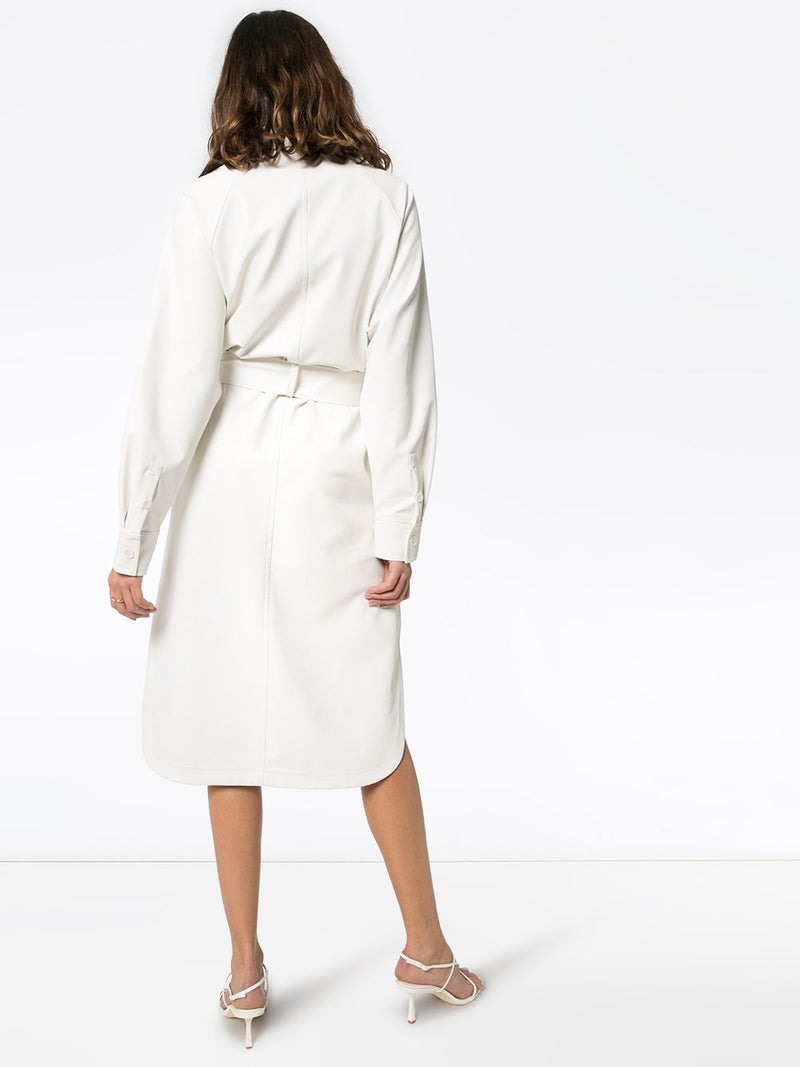 Tibi Faux Leather Shirtdress
