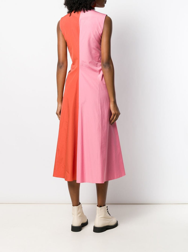 MARNI Bi-Colored Cotton Poplin Dress