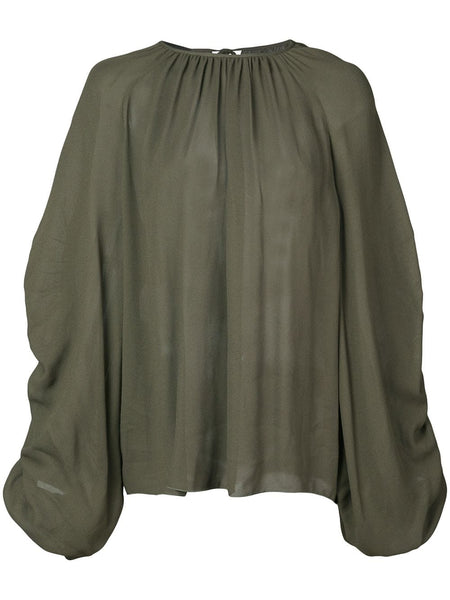 ROCHAS Petra Top - Dark Green