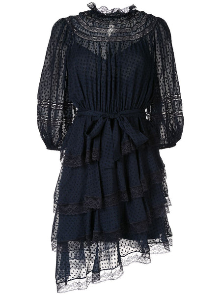 ZIMMERMANN Sabotage Tiered Lace Mini