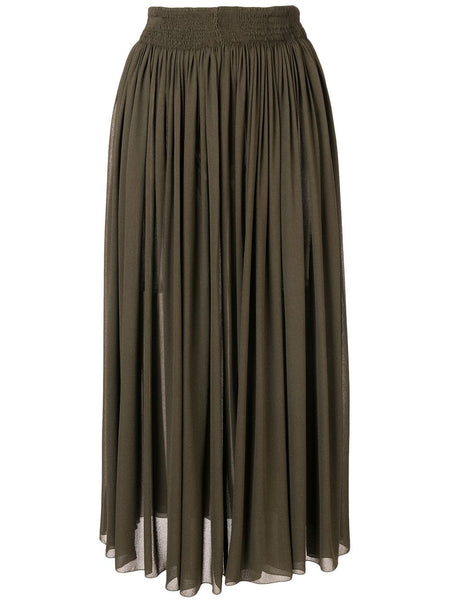 ROCHAS Gonna Pistilla Midi Skirt - Dark Green