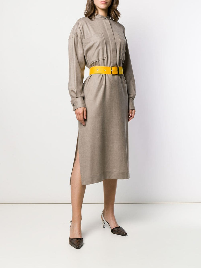 ERIKA CAVILLINI Long Sleeve Shirt Dress