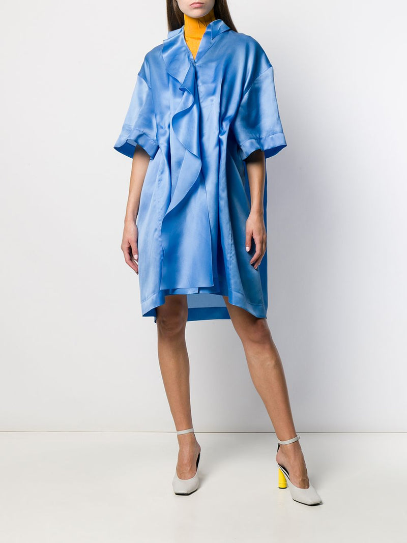 NINA RICCI Ruffle Oversized Silk Organza Dress