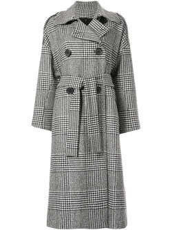 PETAR PETROV Mila Double-Breasted Checked-Wool Coat