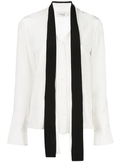 ARIAS Tie Neck Blouse