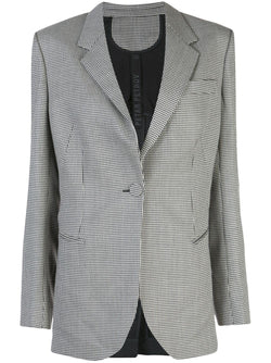 PETAR PERTOV Janis Houndstooth Single-Breasted Blazer