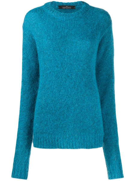 ROKH Crewneck Sweater - Blue Lobster