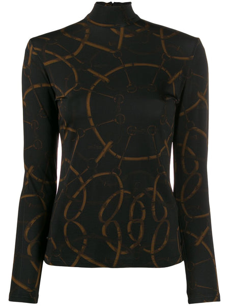 ROKH Mask Top - Dark Chain Print