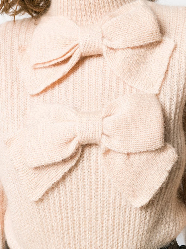 ZIMMERMANN Resistance Batwing Bow Sweater