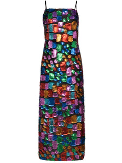 TALLER MARMO Mahogany Metallic Dress