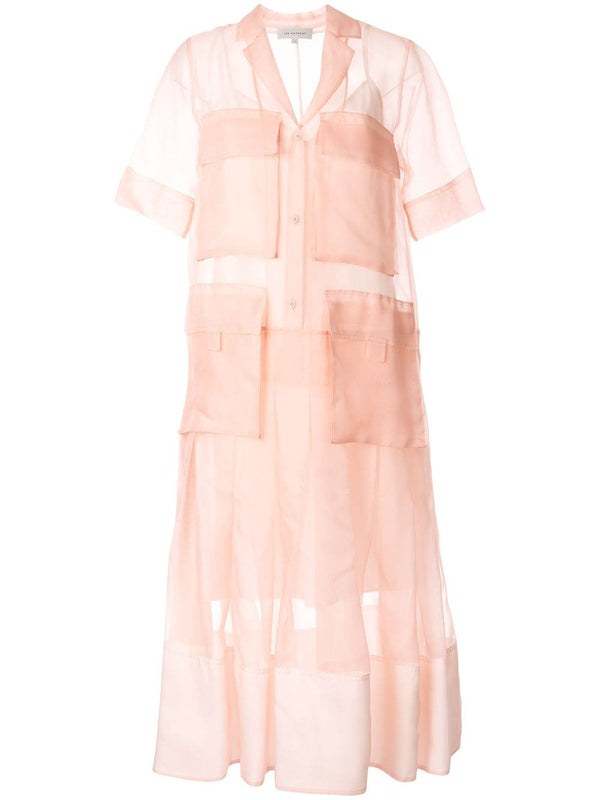 LEE MATHEWS Callie Short Sleeve Maxi Dress - Pink