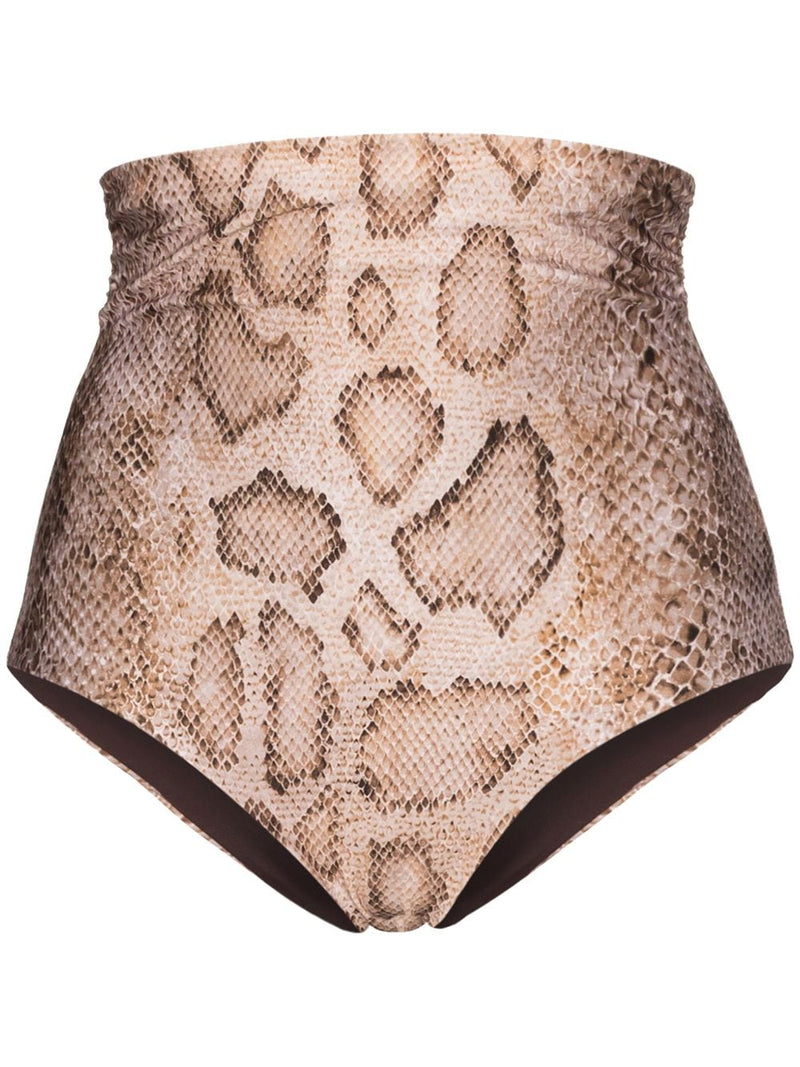 MARA HOFFMAN Bobbi High Waist Bikini Bottom - Sand Multi