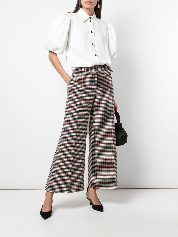 KHAITE Andrea Red Check Pant